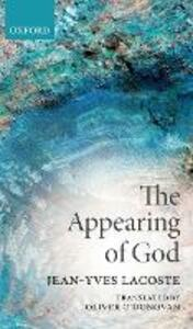 The Appearing of God - Jean-Yves Lacoste - cover
