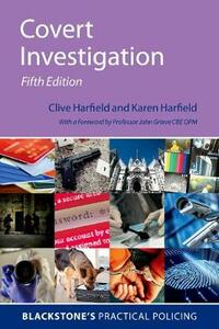 Covert Investigation - Clive Harfield,Karen Harfield - cover