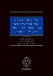 Yearbook on International Investment Law & Policy 2017 - cover