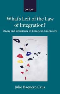 What's Left of the Law of Integration?: Decay and Resistance in European Union Law - Julio Baquero Cruz - cover