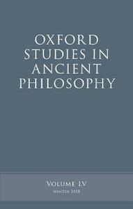 Oxford Studies in Ancient Philosophy, Volume 55 - cover