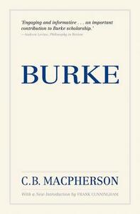 Burke, Reissue - C. B. Macpherson,Frank Cunningham - cover