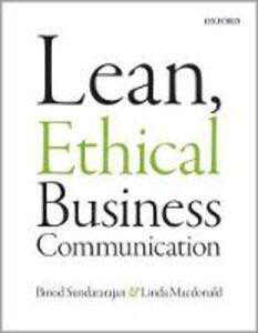 Lean, Ethical Business Communication - Linda MacDonald,Binod Sundararajan - cover