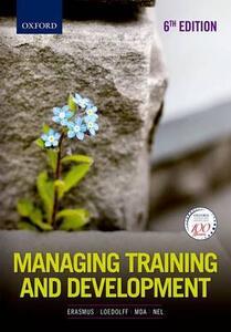 Managing Training and Development in South Africa - Barney Erasmus,Piet Loedolff,Thobeka Mda - cover