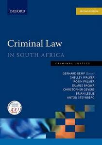 Criminal Law in South Africa: Criminal Law in South Africa - Robin Palmer,Dumile Baqwa,Christopher Gevers - cover