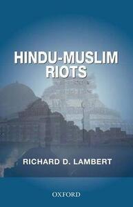 Hindu-Muslim Riots - Richard D. Lambert - cover