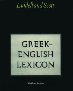 Abridged Greek Lexicon - H. G. Liddell,R. Scott - cover