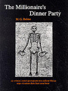 The Millionaire's Dinner Party - M. G. Balme - cover