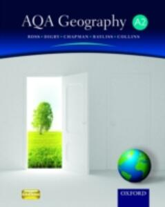AQA Geography for A2 Student Book - Simon Ross,Bob Digby,Tim Bayliss - cover