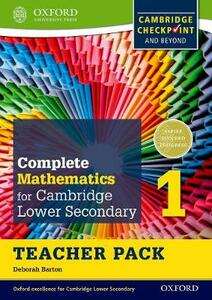 Complete Mathematics for Cambridge Lower Secondary Teacher Pack 1: For Cambridge Checkpoint and Beyond - Deborah Barton - cover
