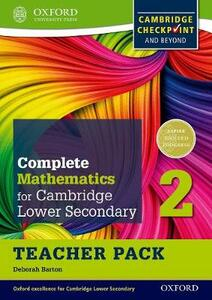 Complete Mathematics for Cambridge Lower Secondary Teacher Pack 2: For Cambridge Checkpoint and beyond - Deborah Barton - cover