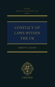 Conflict of Laws Within the UK - Kirsty J. Hood - cover