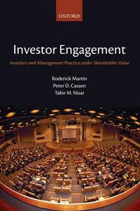Investor Engagement: Investors and Management Practice under Shareholder Value - Roderick Martin,Peter D. Casson,Tahir M. Nisar - cover