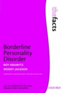 Borderline Personality Disorder - Roy Krawitz,Wendy Jackson - cover