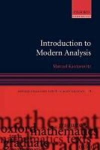 Introduction to Modern Analysis - Shmuel Kantorovitz - cover