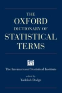 The Oxford Dictionary of Statistical Terms - cover