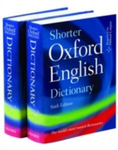 Shorter Oxford English Dictionary - Oxford Dictionaries - cover