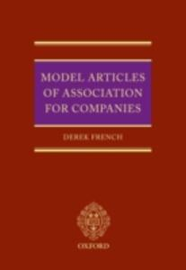 Model Articles of Association for Companies - Derek French - cover