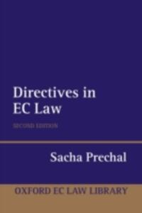 Directives in EC Law - Sacha Prechal - cover