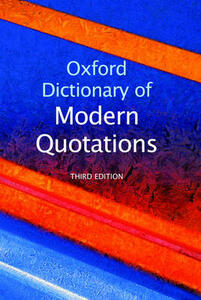 Oxford Dictionary of Modern Quotations - cover