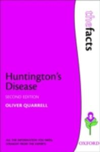 Huntington's Disease - Oliver W. J. Quarrell - cover