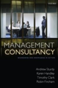 Management Consultancy: Boundaries and Knowledge in Action - Andrew Sturdy,Timothy Clark,Robin Fincham - cover