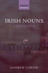 Irish Nouns: A Reference Guide - Andrew Carnie - cover