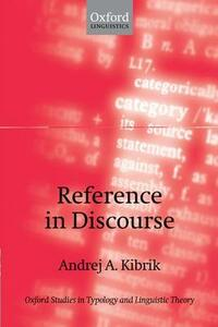 Reference in Discourse - Andrej A. Kibrik - cover