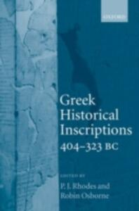 Greek Historical Inscriptions, 404-323 BC - cover