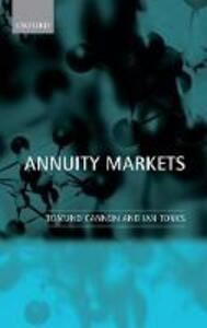 Annuity Markets - Edmund Cannon,Ian Tonks - cover