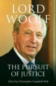 The Pursuit of Justice - Henry Woolf - cover