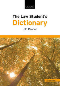 The Law Student's Dictionary - James Penner - cover
