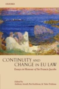 Continuity and Change in EU Law: Essays in Honour of Sir Francis Jacobs - cover