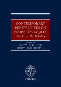 Contemporary Perspectives on Property, Equity and Trust Law - cover