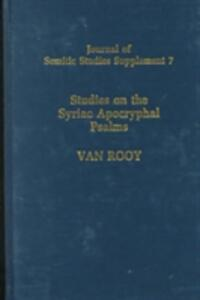 Studies on the Syriac Aprocryphal Psalms - H.F.van Rooy - cover