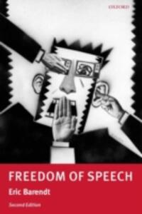 Freedom of Speech - Eric Barendt - cover