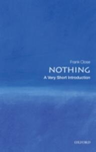 Nothing: A Very Short Introduction - Frank Close - cover