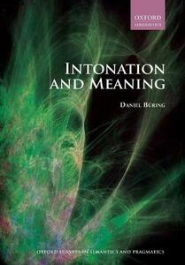 Intonation and Meaning - Daniel Buring - cover