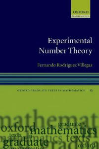 Experimental Number Theory - Fernando Rodriguez Villegas - cover
