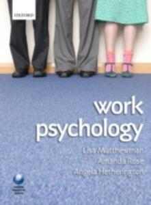 Work Psychology: An Introduction to Human Behaviour in the Workplace - cover