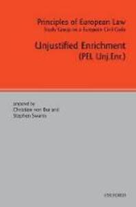 Principles of European Law: Unjustified Enrichment - cover