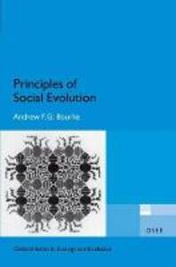 Principles of Social Evolution - Andrew F. G. Bourke - cover