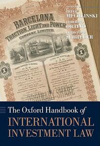 The Oxford Handbook of International Investment Law - cover