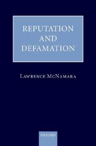 Reputation and Defamation - Lawrence McNamara - cover