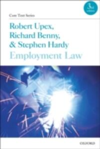 Employment Law - Robert Upex,Richard Benny,Stephen Hardy - cover