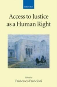 Access to Justice as a Human Right - cover