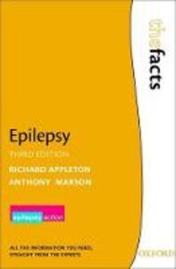 Epilepsy - Richard Appleton,Tony Marson - cover