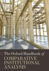 The Oxford Handbook of Comparative Institutional Analysis - cover