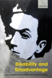 Disability and Disadvantage - cover