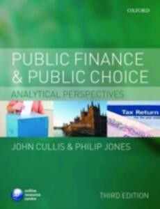 Public Finance and Public Choice: Analytical Perspectives - John G. Cullis,Philip Jones - cover